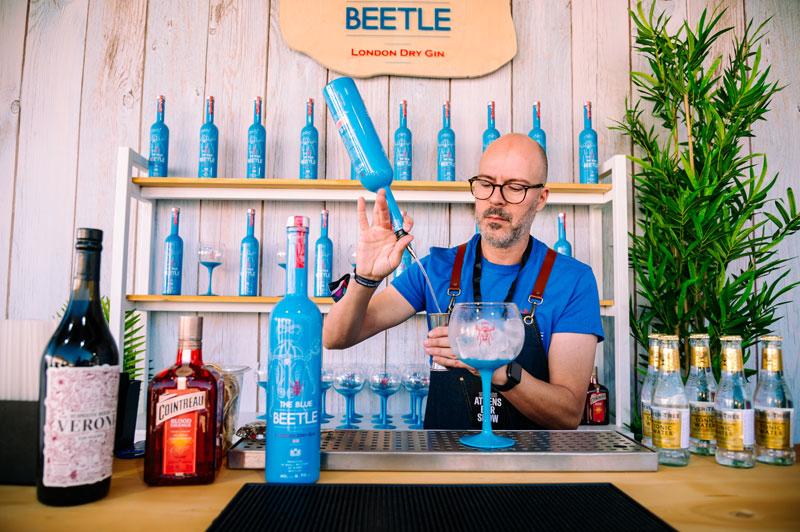 Leomar LTD 10th Athens Bar Show Blue Beetle Gin